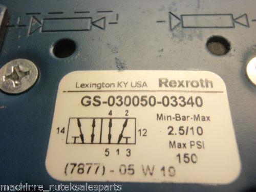 Rexroth Singapore Mexico Ceram Valve GS-030050-03340 _ GS03005003340 _ GS-O3OO5O-O334O