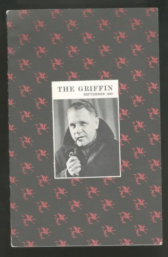 Sept Italy Egypt 1960 The Griffin Magazine Kenneth Rexroth Shirley Jackson