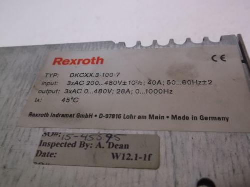 REXROTH Singapore Korea INDRAMAT DKCXX.3-100-7 ECO SERVO DRIVE *USED*