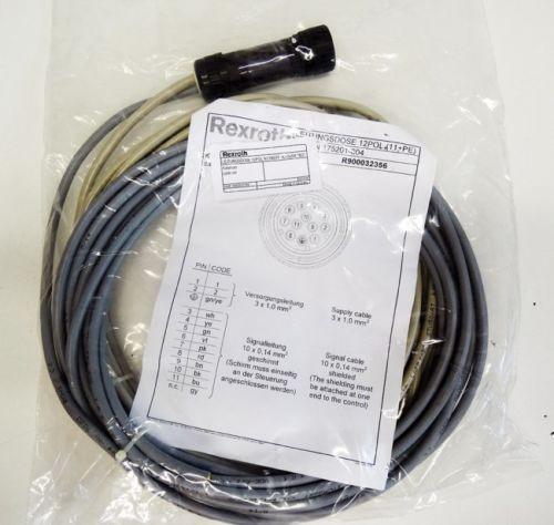 Rexroth India Japan Leitungsdose 12POL N11REFF +L=2x5M R900032356 Kabelsatz -unused-