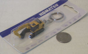 Komatsu Construction Diecast Toy Keychain (New in Package) FAST SHIPPING / USA