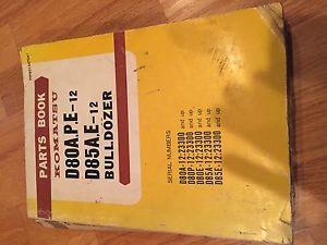 KOMATSU D80A.P.E. 12 D8 D85 BULLDOZER PARTS CATALOG BOOK MANUAL BOOK