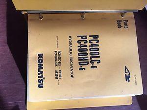KOMATSU PC400 400HD-6  EXCAVATOR PARTS CATALOG BOOK MANUAL BEPB4006C0