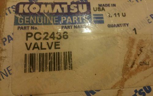KOMATSU VALVE PART PC2436 OLD PN XA1987