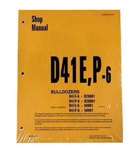 Komatsu D41E-6, D41P-6 Series Dozer Service Shop Repair Printed Manual