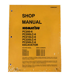 Komatsu Service PC200-6, 200LC-6, PC210LC-6 Shop Manual
