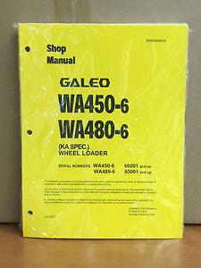 Komatsu Galeo WA450-6,WA480-6 (KA Spec.) Wheel Loader Shop Service Repair Manual