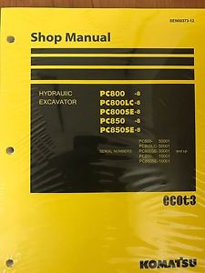 Komatsu PC800-8 PC800LC-8 PC800SE-8 PC850-8 PC850SE-8 Repair Manual Shop