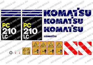 KOMATSU PC210LC DIGGER DECAL STICKER SET