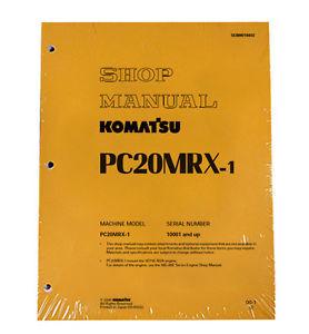 Komatsu Service PC20MRX-1 Shop Repair Manual