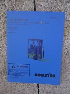 2003 Komatsu ABX7 Electric Forklift Truck Illustrated Parts Manual GE Controls V