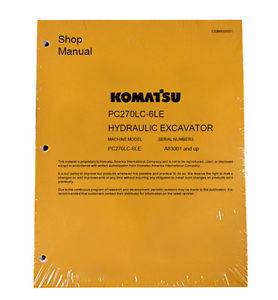Komatsu Service PC270LC-6LE Excavator Repair Manual NEW
