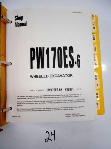 KOMATSU PW170ES-6 WHEELED EXCAVATOR SHOP MANUAL K32001-UP