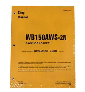 Komatsu Service WB150AWS-2N Backhoe Loader Shop Manual