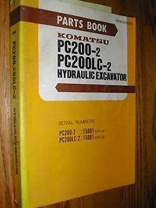 Komatsu PC200-2 PC200LC-2 PARTS MANUAL BOOK CATALOG EXCAVATOR HYD. PEPB02050203