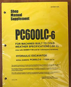 Komatsu Service PC600LC-6 COLD SPEC Repair Manual
