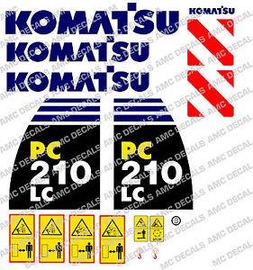 KOMATSU pc210lc -8 Escavatore Adesivo Decalcomania Set