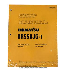 Komatsu Service BR550JG-1 Mobile Crusher Repair Manual