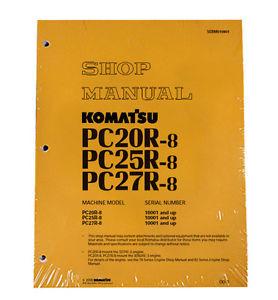 Komatsu Service PC20-8, PC25R-8, PC27R-8 Shop Manual