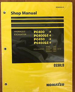 Komatsu Service PC400-8 PC400LC-8 PC450-8 PC450LC-8 Manual Shop Repair