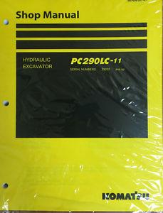 Komatsu PC290LC-11 Hydraulic Excavator Shop Loader Workshop Repair