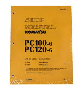 Komatsu Service PC100-6, PC100L-6, PC120-6 Shop Printed Manual