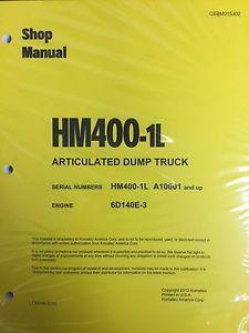 Komatsu HM400-1L Shop Service Manual Articulated Dump Truck