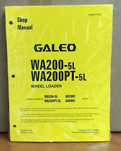 Komatsu Galeo WA200-5L, WA200PT-5L Wheel Loader Shop Service Repair Manual