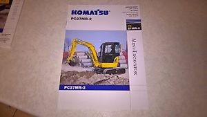 komatsu pc27mr - 2 excavator sale brochure