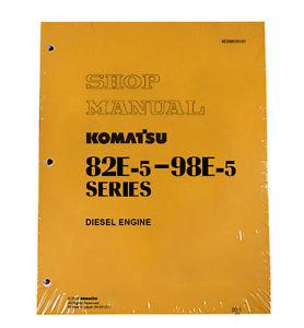 Komatsu Service Engines 82E-5/84E/88E/94LE/98E-5 Manual