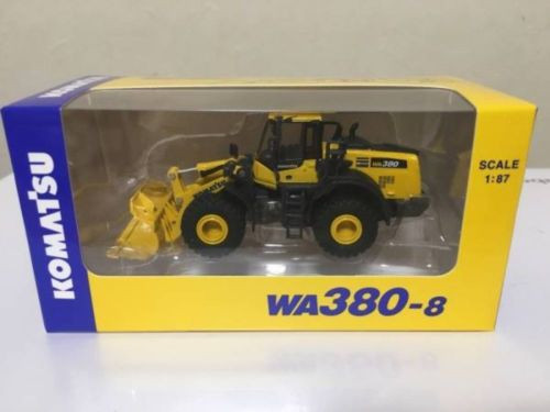 NEW 1/87 Komatsu Official WA380-8 Wheel Loader diecast model from Japan F/S rare
