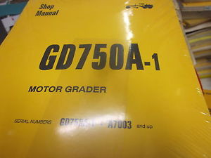 Komatsu GD750A-1 Motor Grader Repair Shop Manual