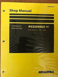 Komatsu PC228USLC-10 Service Repair Printed Manual Shop
