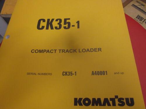 Komatsu CK35-1 Skid Steer Loader Parts Book Manual s/n A40001 & Up