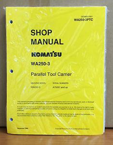 Komatsu WA250-3 Parallel Tool Carrier Wheel Loader Shop Service Repair Manual