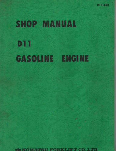 KOMATSU D11 ENGINE SHOP  MANUAL D11-BE2