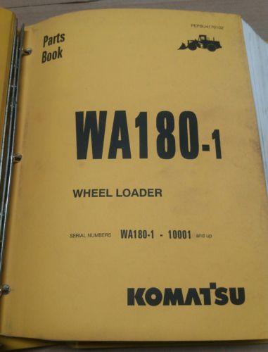Komatsu WA180-1 Wheel Loader Parts Book