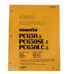 Komatsu Service PC650-5, PC650SE-5, PC650LC-5 Manual