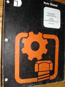 Komatsu Dresser TD7E PARTS MANUAL BOOK CATALOG CRAWLER TRACTOR BULLDOZER GUIDE