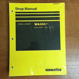 Komatsu WA500-7 Wheel Loader Shop Service Repair Manual 10001 and UP