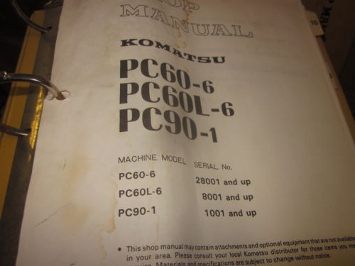 Komatsu PC60-6 PC60L-6 PC90-1 Hydraulic Excavator Service Repair Manual