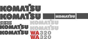 New Komatsu Wheel Loader WA320 Decal Set with Avance Decals
