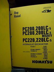 Komatsu PC200/220 Hydraulic Excavator Shop Manual