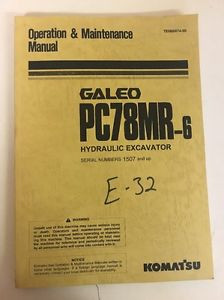 Komatsu PC78MR-6 Hydraulic Excavator Operation and Maintenance Manual