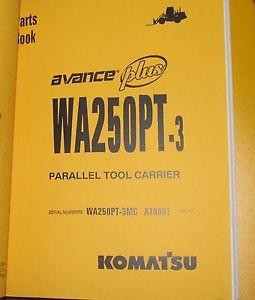 PARTS MANUAL FOR WA250PT-3 SERIAL A78000 KOMATSU WHEEL LOADER