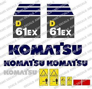 KOMATSU D61EX AUFKLEBER STICKER SET