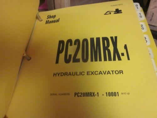 Komatsu PC20MRX-1 Hydraulic Excavator Repair Shop Manual
