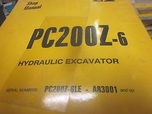 Komatsu PC200Z-6 Hydraulic Excavator Repair Shop Manual