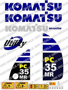 KOMATSU PC35MR DIGGER DECAL STICKER SET