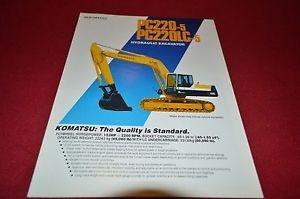 Komatsu PC220 PC220LC Hydraulic Excavator Dealer's Brochure DCPA4